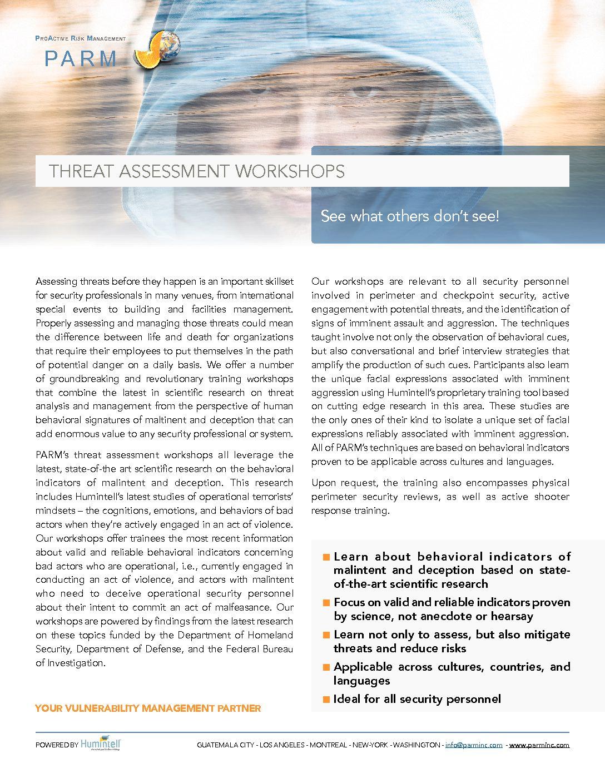 TA PARM Threat Assessment V3 – PARM